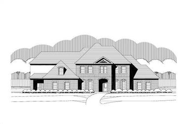 4-Bedroom, 4778 Sq Ft Luxury House Plan - 156-1626 - Front Exterior
