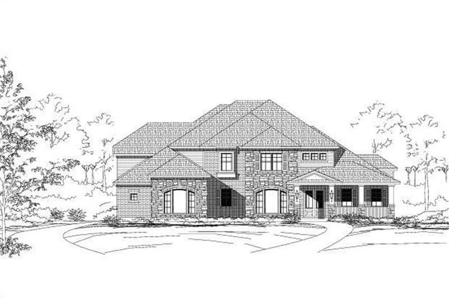 4-Bedroom, 4214 Sq Ft Country Home Plan - 156-1627 - Main Exterior