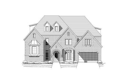 3-Bedroom, 5195 Sq Ft Luxury Home Plan - 156-1628 - Main Exterior