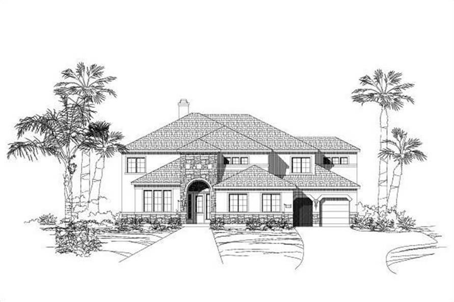 6-Bedroom, 4436 Sq Ft Luxury House Plan - 156-1629 - Front Exterior
