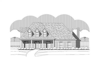 5-Bedroom, 4357 Sq Ft Country Home Plan - 156-1632 - Main Exterior