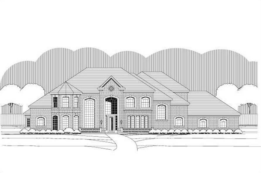 4-Bedroom, 5054 Sq Ft Luxury Home Plan - 156-1633 - Main Exterior