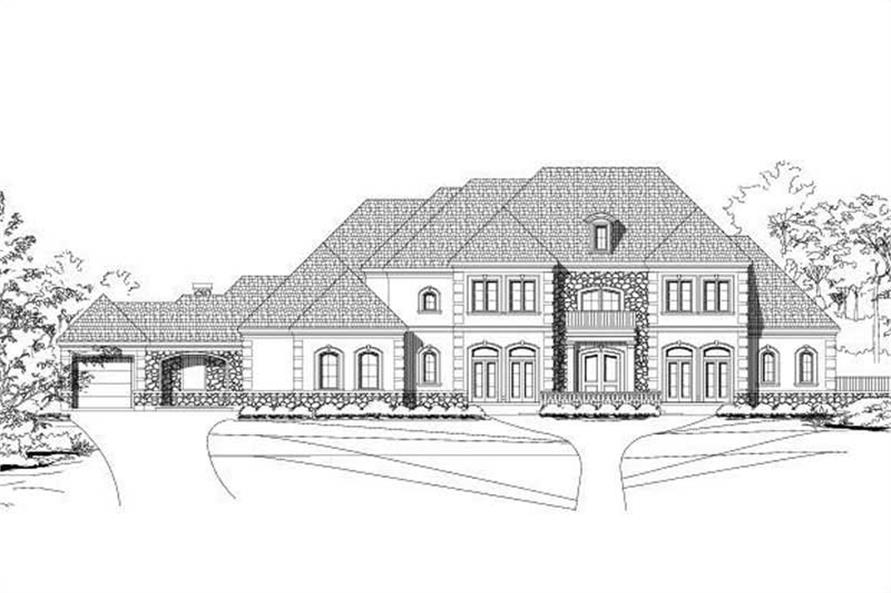 5-Bedroom, 6857 Sq Ft Luxury House Plan - 156-1635 - Front Exterior