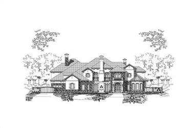 5-Bedroom, 7649 Sq Ft Country Home Plan - 156-1639 - Main Exterior