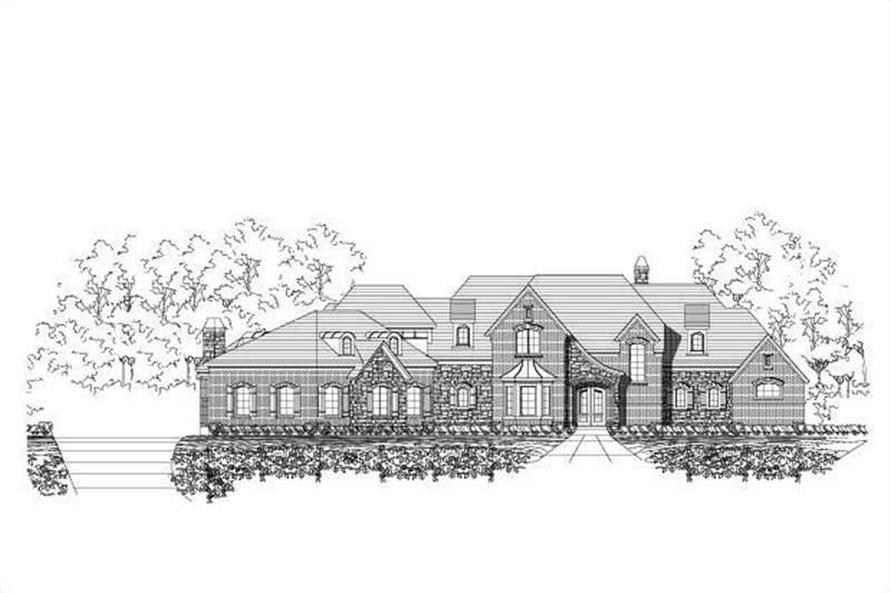 4-Bedroom, 5470 Sq Ft Country Home Plan - 156-1641 - Main Exterior