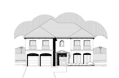 3-Bedroom, 4058 Sq Ft Mediterranean Home Plan - 156-1642 - Main Exterior