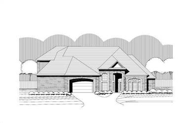 3-Bedroom, 3298 Sq Ft Traditional Home Plan - 156-1643 - Main Exterior