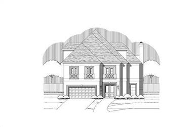 3-Bedroom, 3636 Sq Ft French Home Plan - 156-1646 - Main Exterior