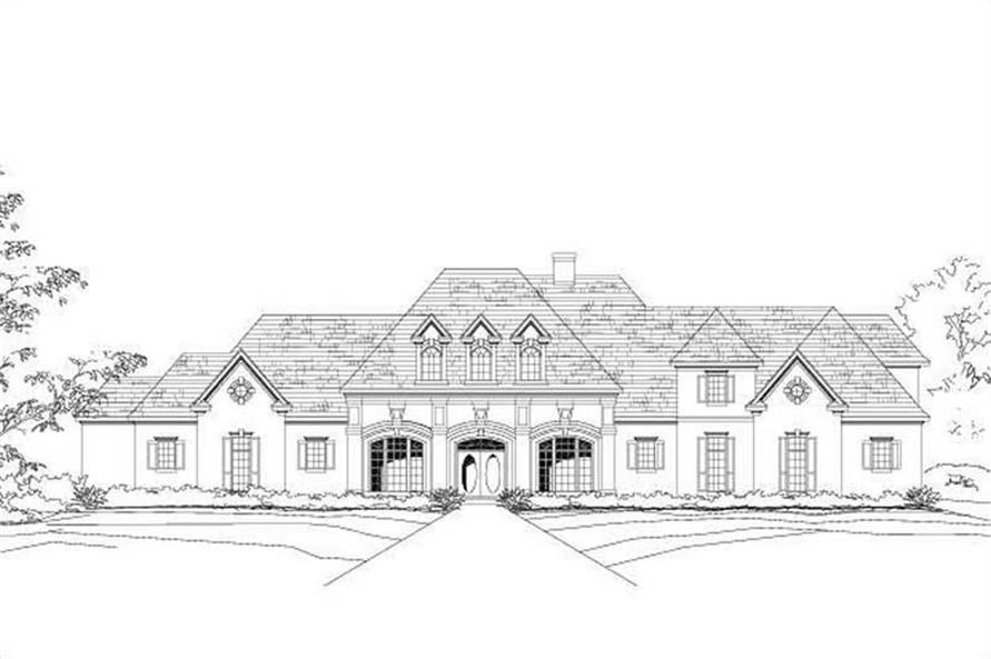 2-Bedroom, 4375 Sq Ft Country Home Plan - 156-1647 - Main Exterior