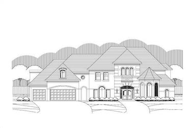 5-Bedroom, 5336 Sq Ft Luxury Home Plan - 156-1648 - Main Exterior