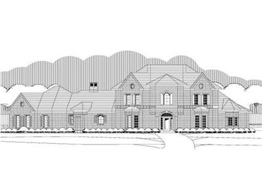 4-Bedroom, 3763 Sq Ft French Home Plan - 156-1649 - Main Exterior