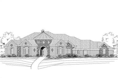 4-Bedroom, 3591 Sq Ft Luxury House Plan - 156-1650 - Front Exterior