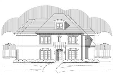 3-Bedroom, 3446 Sq Ft Mediterranean Home Plan - 156-1651 - Main Exterior