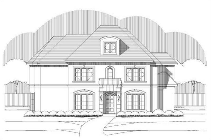 3-Bedroom, 3446 Sq Ft Mediterranean Home Plan - 156-1651 - Main Exterior