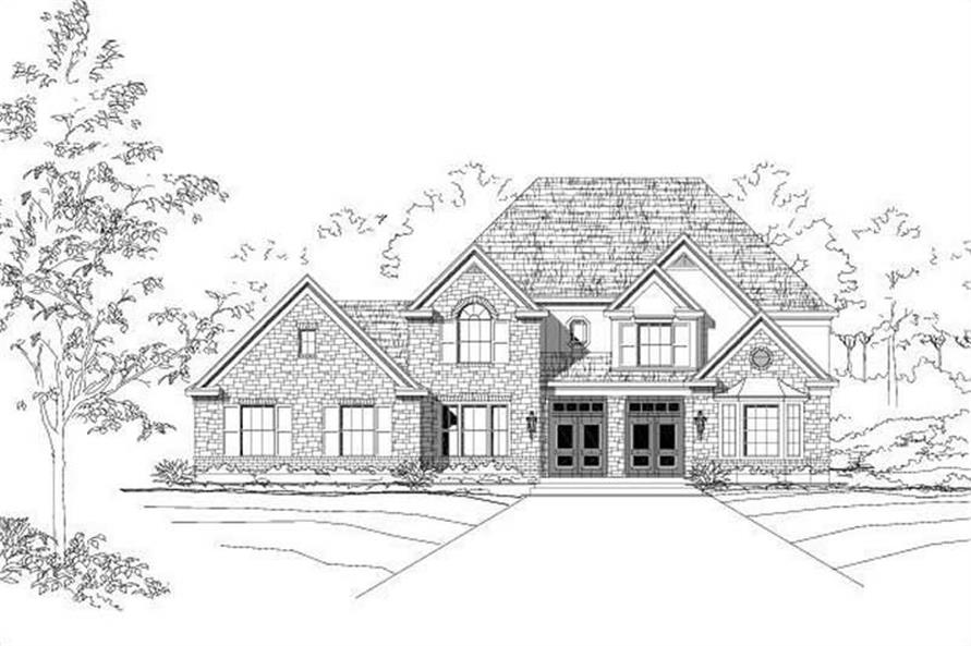5-Bedroom, 4319 Sq Ft Country Home Plan - 156-1653 - Main Exterior
