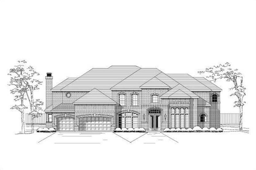 5-Bedroom, 6024 Sq Ft Luxury Home Plan - 156-1654 - Main Exterior