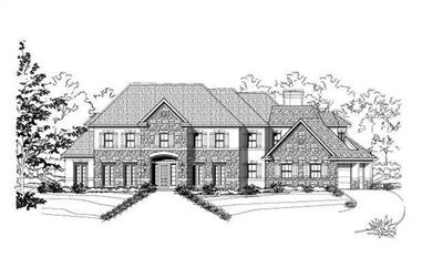 6-Bedroom, 5524 Sq Ft Luxury House Plan - 156-1656 - Front Exterior