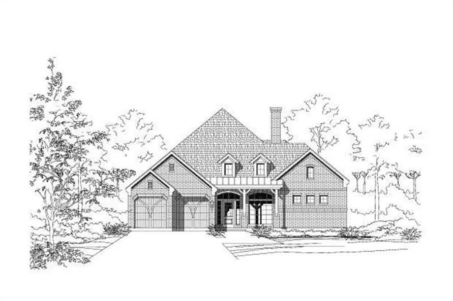 3-Bedroom, 2834 Sq Ft Country House Plan - 156-1658 - Front Exterior