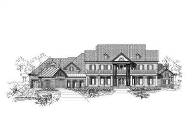 5-Bedroom, 8903 Sq Ft Colonial Home Plan - 156-1659 - Main Exterior