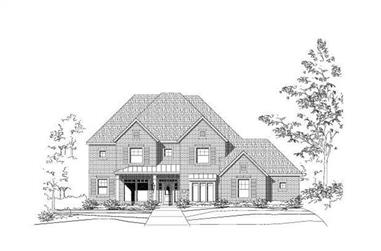 5-Bedroom, 4542 Sq Ft Country House Plan - 156-1660 - Front Exterior