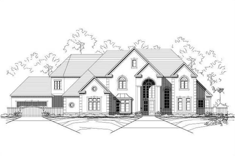 4-Bedroom, 7202 Sq Ft Luxury Home Plan - 156-1662 - Main Exterior