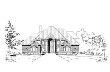 4-Bedroom, 4750 Sq Ft Luxury House Plan - 156-1663 - Front Exterior