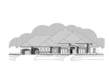 3-Bedroom, 3719 Sq Ft Country Home Plan - 156-1664 - Main Exterior