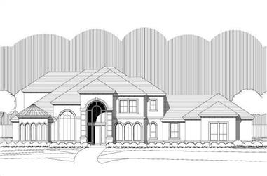 3-Bedroom, 4505 Sq Ft Contemporary House Plan - 156-1666 - Front Exterior