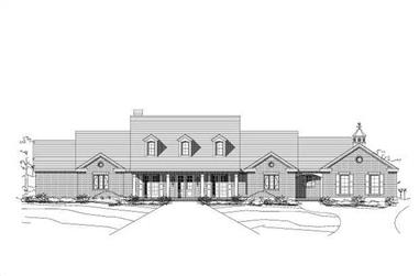 3-Bedroom, 4568 Sq Ft Country House Plan - 156-1667 - Front Exterior