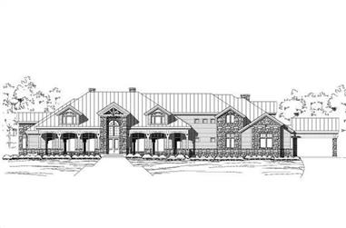 6-Bedroom, 8893 Sq Ft Country Home Plan - 156-1668 - Main Exterior