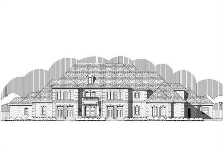 6-Bedroom, 7731 Sq Ft French House Plan - 156-1669 - Front Exterior