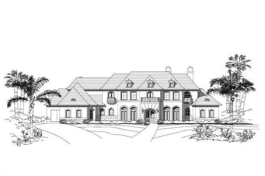 5-Bedroom, 8164 Sq Ft Luxury Home Plan - 156-1670 - Main Exterior