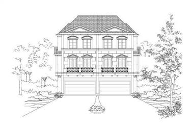 3-Bedroom, 3777 Sq Ft Multi-Unit House Plan - 156-1672 - Front Exterior