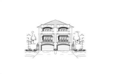 3-Bedroom, 3902 Sq Ft Multi-Level Home Plan - 156-1674 - Main Exterior