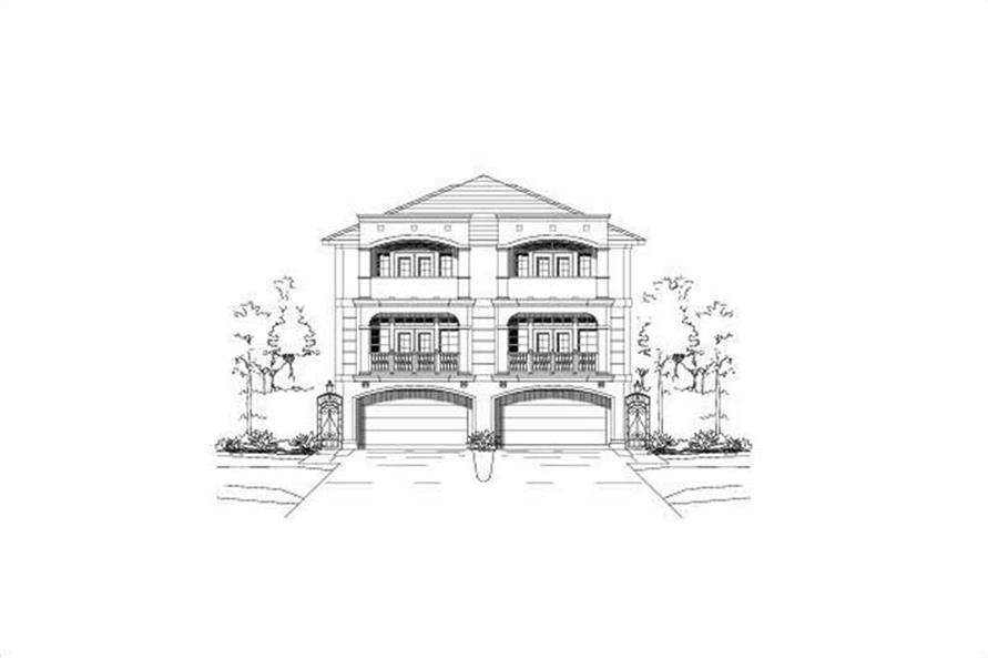 3-Bedroom, 3902 Sq Ft Multi-Level Home Plan - 156-1674 - Main Exterior