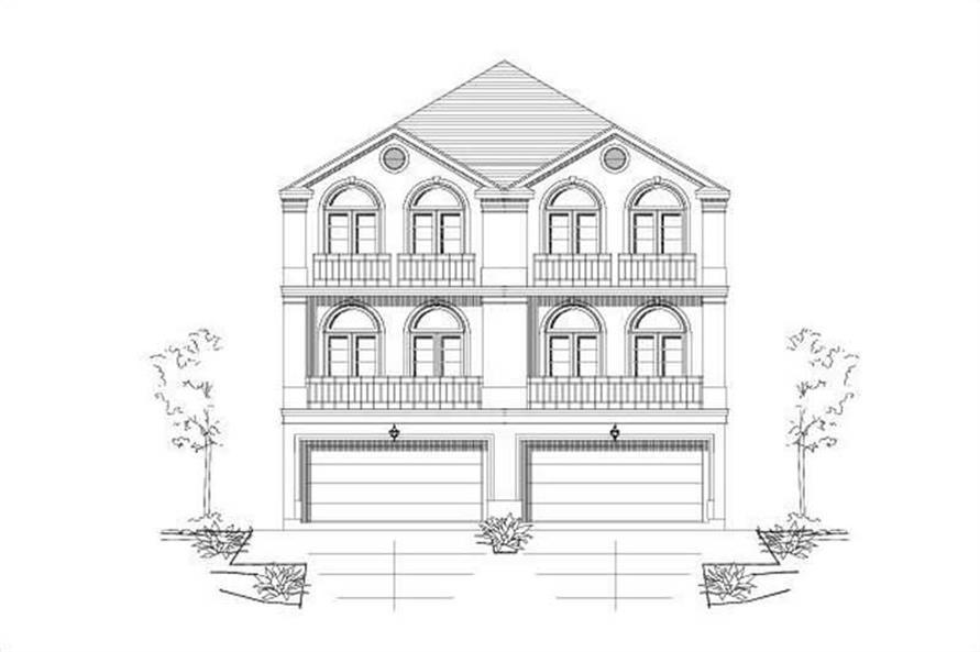 3-Bedroom, 2362 Sq Ft Multi-Unit Home Plan - 156-1676 - Main Exterior