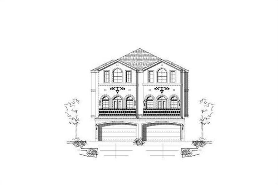 3-Bedroom, 3173 Sq Ft Multi-Unit Home Plan - 156-1677 - Main Exterior