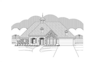 4-Bedroom, 4231 Sq Ft Country Home Plan - 156-1679 - Main Exterior