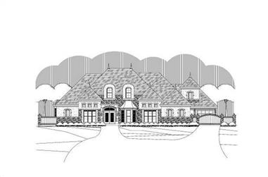 4-Bedroom, 5655 Sq Ft French House Plan - 156-1681 - Front Exterior