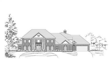 4-Bedroom, 4963 Sq Ft Luxury Home Plan - 156-1682 - Main Exterior