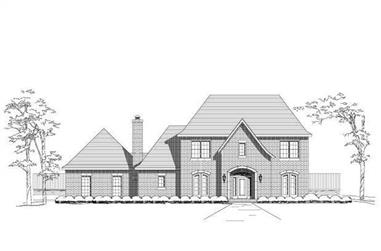 4-Bedroom, 3742 Sq Ft Luxury Home Plan - 156-1685 - Main Exterior