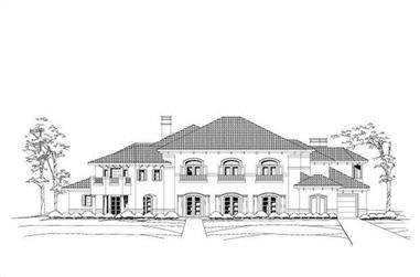 4-Bedroom, 7188 Sq Ft Mediterranean Home Plan - 156-1688 - Main Exterior