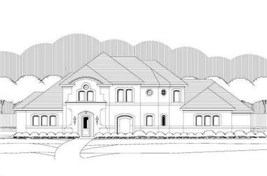 4-Bedroom, 3928 Sq Ft Mediterranean Home Plan - 156-1689 - Main Exterior