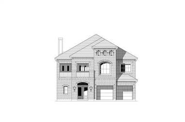 3-Bedroom, 3113 Sq Ft Traditional House Plan - 156-1690 - Front Exterior