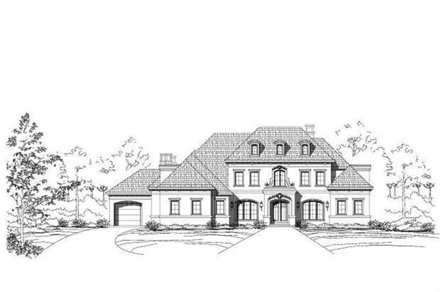 4-Bedroom, 6028 Sq Ft Luxury Home Plan - 156-1693 - Main Exterior