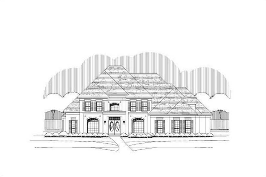 5-Bedroom, 5433 Sq Ft Luxury House Plan - 156-1694 - Front Exterior