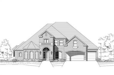 5-Bedroom, 4558 Sq Ft Luxury Home Plan - 156-1696 - Main Exterior