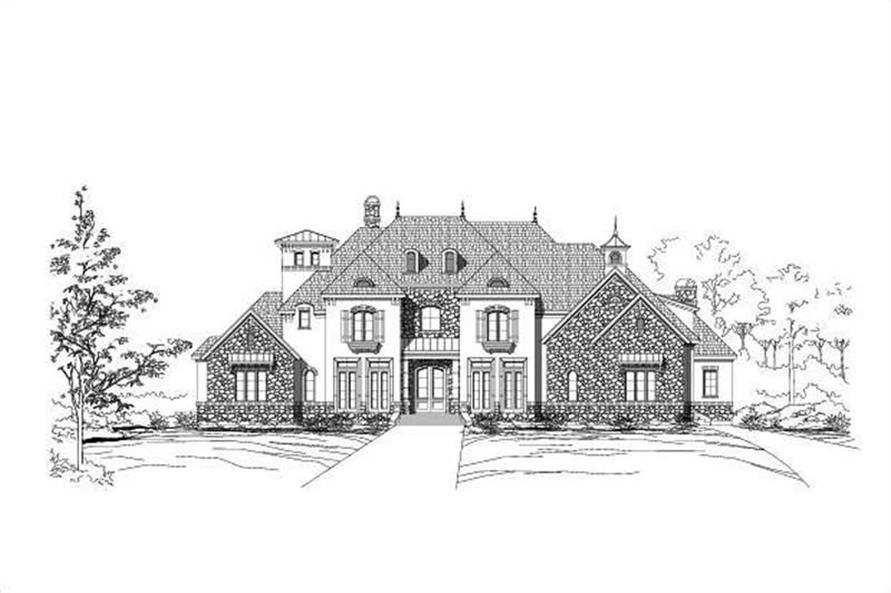 5-Bedroom, 6504 Sq Ft Luxury House Plan - 156-1697 - Front Exterior