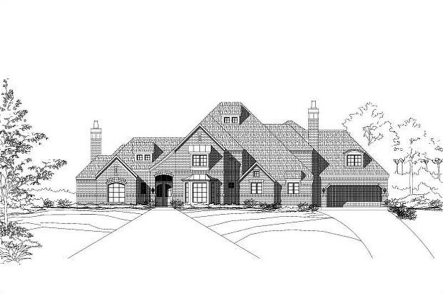 4-Bedroom, 5504 Sq Ft Luxury House Plan - 156-1698 - Front Exterior