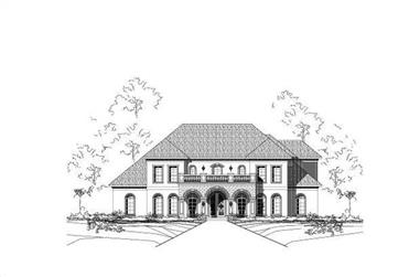 5-Bedroom, 5920 Sq Ft Luxury House Plan - 156-1699 - Front Exterior
